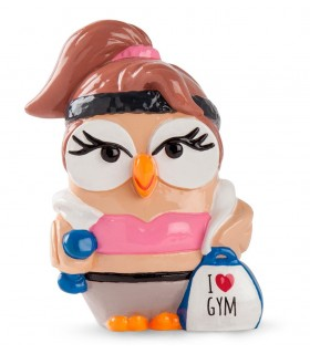 "Salvadanaio Goofi Egan in Ceramica ""I Love Gym""  mis.8x10"