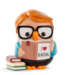 "Salvadanaio Goofi Egan in Ceramica ""I Love Reading""  mis.8x10"