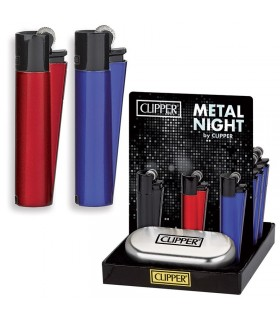 Accendino Clipper Large Metal Night in Metallo Expo da 12 pz.