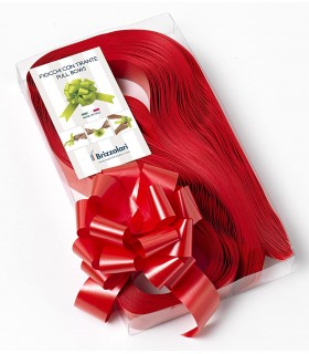 Fiocco strip H. 5 cm.  conf. 30 pz. colore rosso