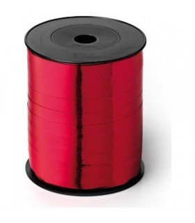 Nastro 250 metri  lucido  h. 1 cm.  colore rosso