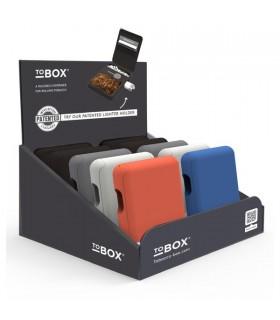 Portatabacco  Filtri Cartine e Accendino TBOX in Metallo  conf. 10 pz. colori assortiti