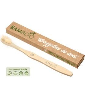 Spazzolino da Denti con Manico in Bamboo confezionato in scatola