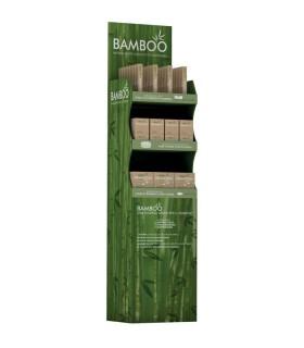 Espositore da Terra Bamboo con Disci Stuccanti-Bastoncini Cosmetici e Classici eS pazzolino da Denti Totale 85 pz.