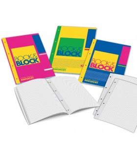 Book e Block formato A4 rig. 5M  60 fogli RINFORZATI  conf. 5 pz.