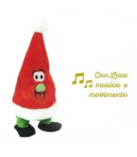 Peluche Cappello di Natale con Musica Suoni e Luci H. 20 cm