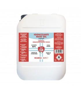 Igienizzante Gel Mani Pretty Clean con 65% Alcol  Ricarica  da 5LT