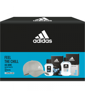 Adidas Ive Dive Uomo Cofanetto con Eau de Toilette e After Shave + Cappello