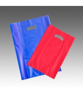 Shopper in Plastica 60 Micron Mis. 25x5x5x45 cm con Manico a Fagiolo colori assortiti Cartone da 10 Kg (400 pz. circa)