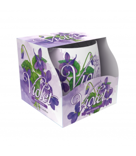 Candela Profumata Santo Candles in Vetro Fragranza Violet 100g