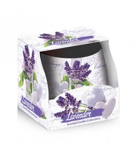 Candela Profumata Santo Candles in Vetro Fragranza Lavanda  100g