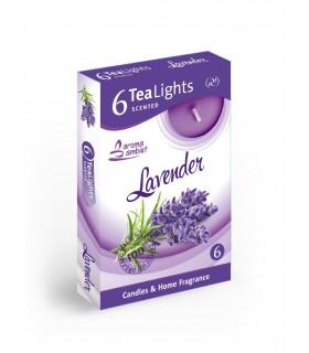 Candela Tea Lights Santo Candles Fragranza Lavanda conf. 6 pz.
