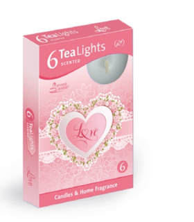 Candela Tea Lights Santo Candles Fragranza Love conf. 6 pz.