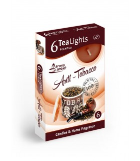 Candela Tea Lights Santo Candles Fragranza Anti Tabacco conf. 6 pz.