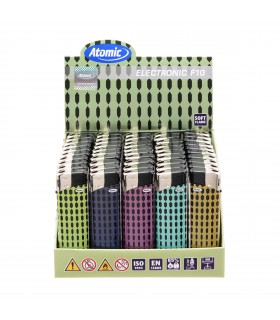Accendino Elettronico Atomic Pattern conf. 50 pz. assortito con 5 grafiche