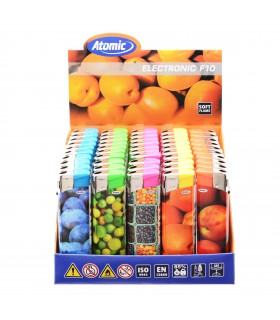Accendino Elettronico Atomic Fruits conf. 50 pz. assortito con 5 fantasie