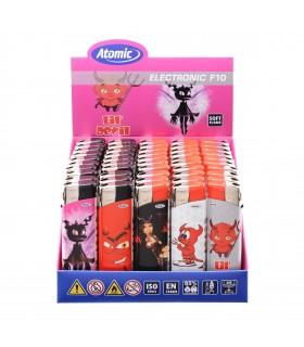 Accendino Elettronico Atomic Devils conf. 50 pz. assortito con 5 fantasie