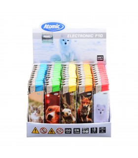 Accendino Elettronico Atomic Cute Animals conf. 50 pz. assortito con 5 fantasie
