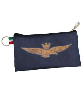 Portapenne a Bustina con Zip e Logo Aeronautica Militare