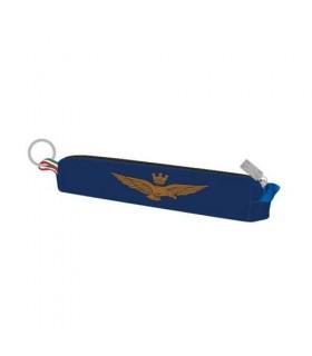 Mini Portapenne con Zip e Logo Aeronautica Militare