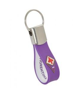 Portachiavi in PVC Morbido e Metallo F.C. Fiorentina