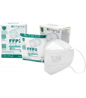 Mascherina Protettiva FFP2 colore Bianco Imballata Singolarmente conf. 10 pz