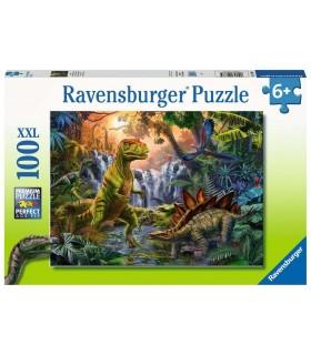 Puzzle Ravensburger 49x36 cm. 100 pz. L'Oasi dei Dinosauri
