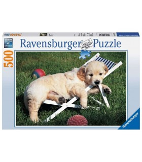 Puzzle Ravensburger 27x39 cm. 500 pz. Cuccioli a Riposo