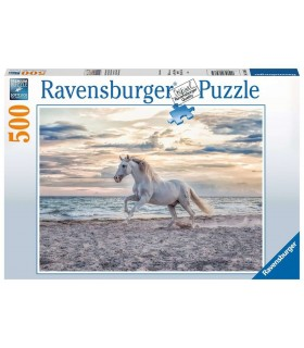 Puzzle Ravensburger 49x36 cm. 500 pz. Cavallo in Spiaggia