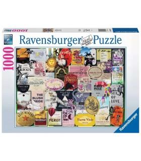 Puzzle Ravensburger 70x50 cm. 1000 pz. Etichette Vino