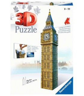Puzzle Ravensburger 3D H.41cm 216 pz. Big Ben Londra