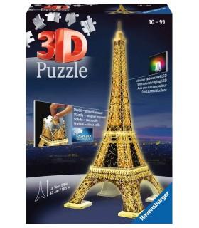 Puzzle Ravensburger 3D che si Illumina H.47 cm 216 pz. Torre Eiffel Night