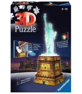 Puzzle Ravensburger 3D che si Illumina H.40 cm 216 pz. Statua della Libertà