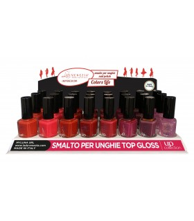Smalto Up per Unghie Colori Cherry assortiti Lady Venezia da 12ml Expo da 24 pz. assortito con  8 colori