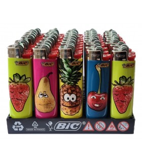 Accendino Bic Slim Fruit onf. da 50 pz. assortiti
