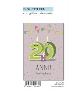 Biglietto Marpimar Compleanno 20 Anni conf. 6 pz.