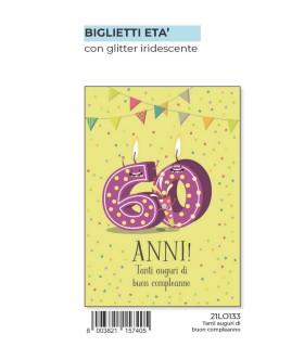 Biglietto Marpimar Compleanno 60 Anni conf. 6 pz.