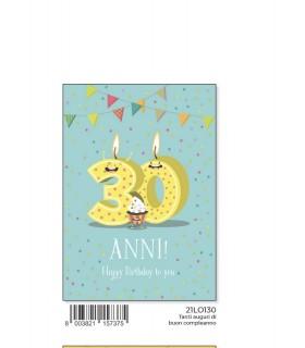 Biglietto Marpimar Compleanno 30 Anni conf. 6 pz.