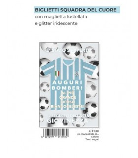 Biglietto Marpimar Compleanno Biancoceleste con Fustella  conf. 6 pz.