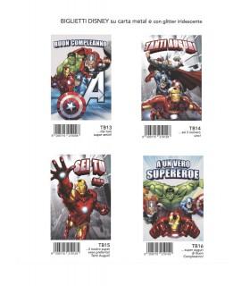 Biglietto Marpimar The Avengers Compleanno conf.12 pz. assortiti