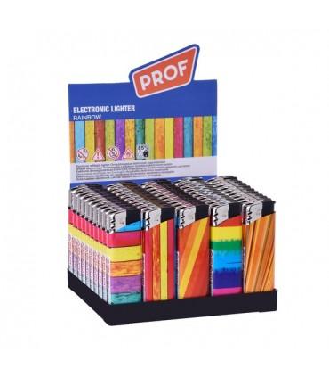 Accendino Elettronico Prof Rainbow 50 pz. assortito con 5 grafiche