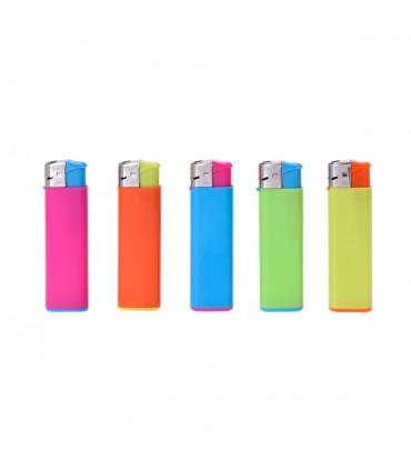 Accendino Elettronico Prof Translucido Bi Colori 50 pz. assortito con 5 grafiche