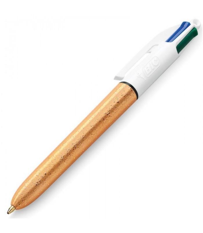 Penna Bic 4 colori Gold  (nero-blu-rosso-verde)