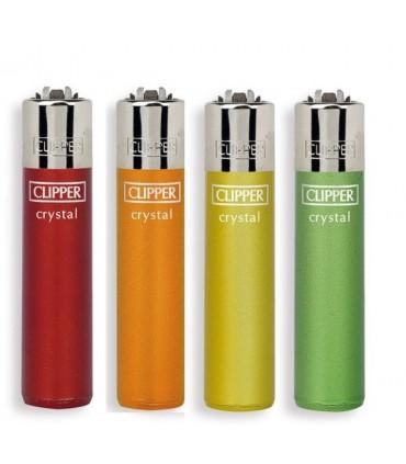 Accendino Clipper Large Crystal Rainbow conf. 48 pz. assortiti con 4 grafiche