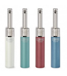 Accendigas Clipper Mini Crystal conf. 24 pz. colori assortiti