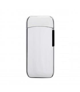 Accendino Elettronico Cozy Spark Antivento con arco al plasma e ricarica USB colore Argento