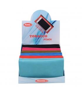Busta Portatabacco Atomic XL in Alcantara con cerniera porta Smartphone conf. 12 pz. colori assortiti