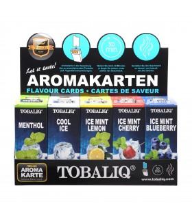 Aroma Card per Pacchetti di Sigarette TOBALIQ HIPZZ Expo da 10 pz. assortito con 5 Aromi