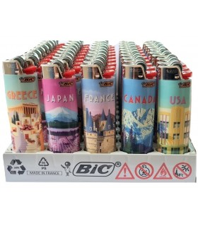 Accendini Bic Maxi  Fantasia City conf. 50 pz. assortiti