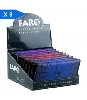Busta Portatabacco in Similpelle Fantasia Spider Colors Conf. 9 pz. Fantasie assortite